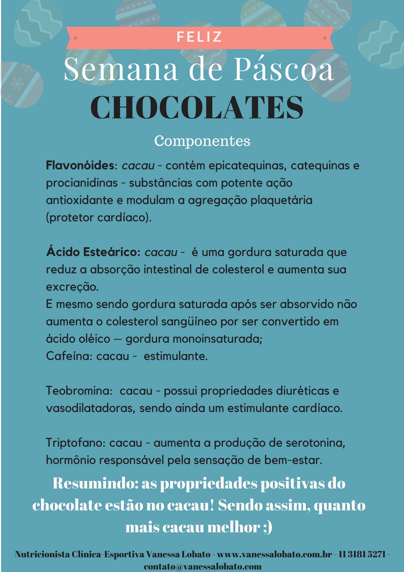 páscoa chocolate componentes tipos de chocolates